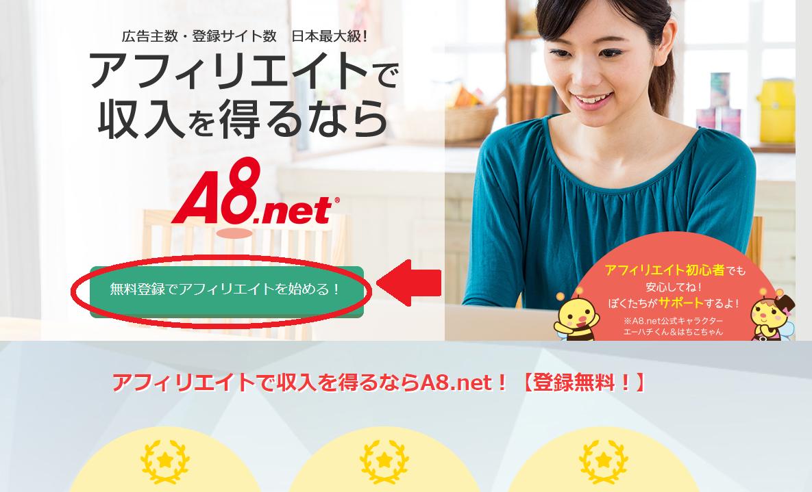 A8.net登録手順