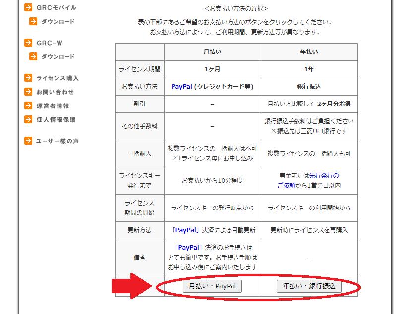 GRCのライセンス購入方法