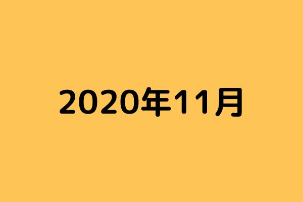 【ブログ運営記録】2020年11月度